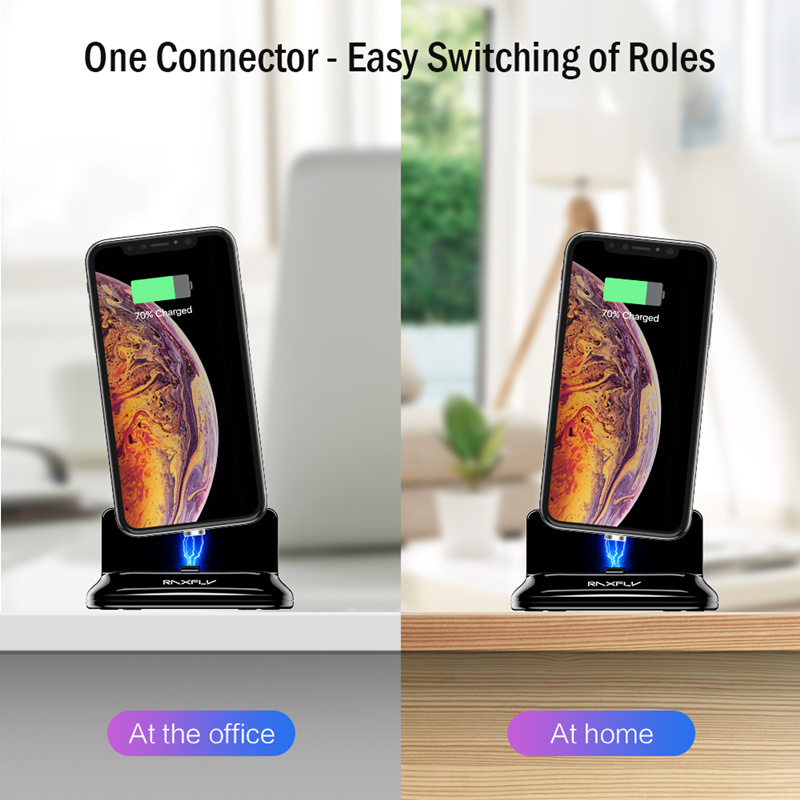 RAXFLY Phone Magnetic USB Charger Desktop Holder For iPhone XS Oneplus 6T Xiaomi Mi8 Pocophone F1
