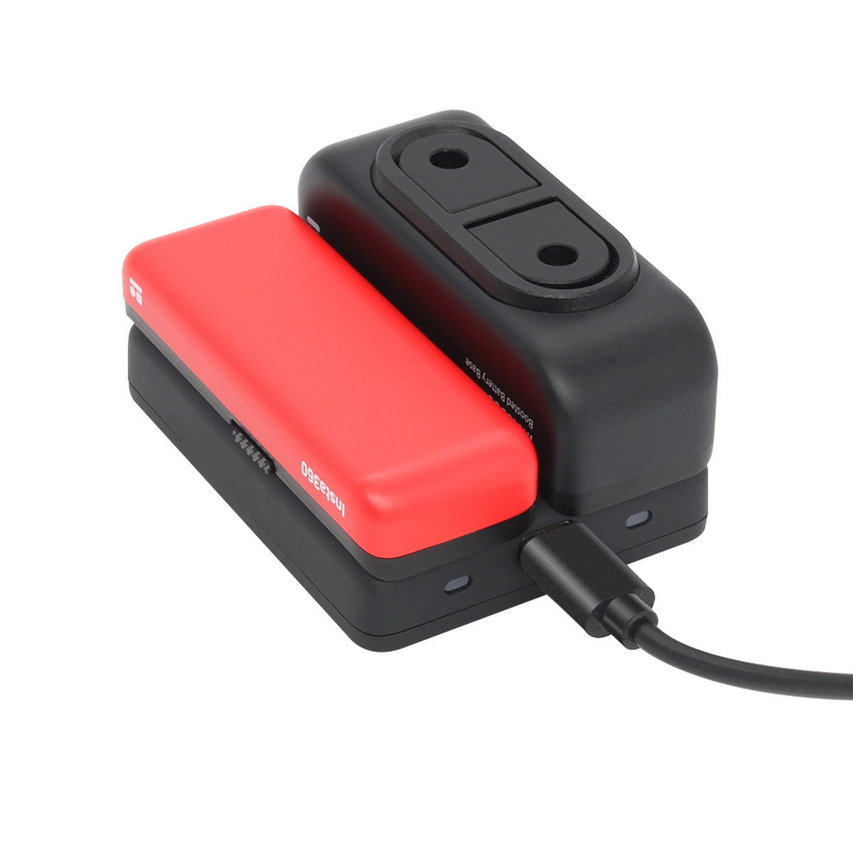 Dual Charge Lithium Battery Base Charger For Insta 360 R 4K Panoramic Camera Accessories - Photo: 3