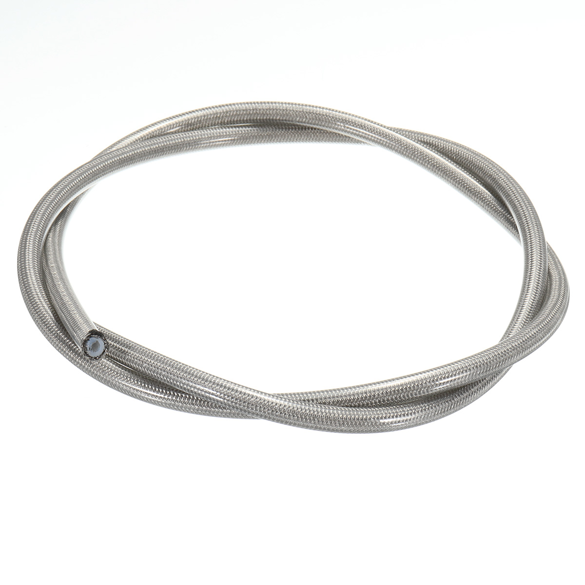 3.28FT Stainless Steel Braided Oil Fuel Coolant Hose Line AN-3 AN3 3.17mm 1/8 Inch