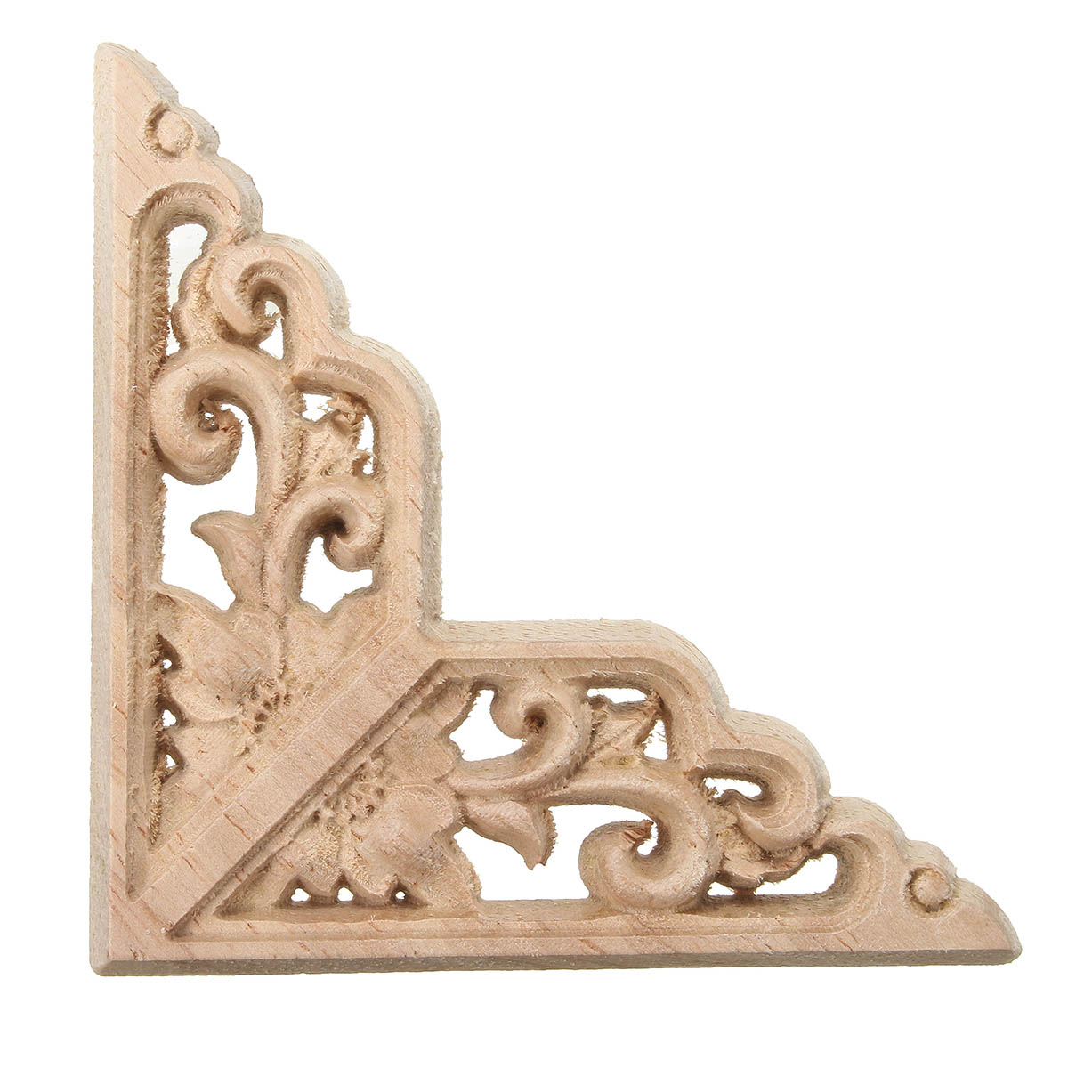 Wood Carving Applique Unpainted Onlay Door Corner Cabinet Furniture Wood Carving Decor 8x8cm