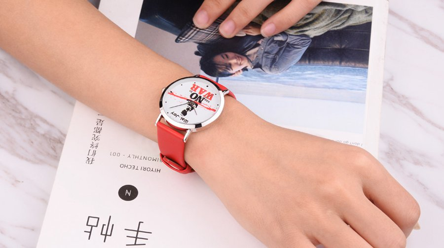 Simple Fashion Leather Strap Student Watch