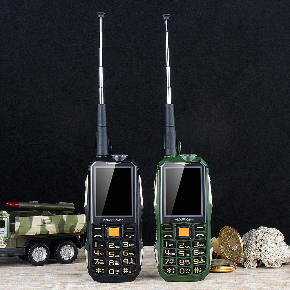 MAFAM M2+ 2.4 Inch 4000mAh UHF Walkie Talkie Hardware Intercom Handheld SOS Facebook Dual SIM Card FM Power Bank Rugged Feature Phone