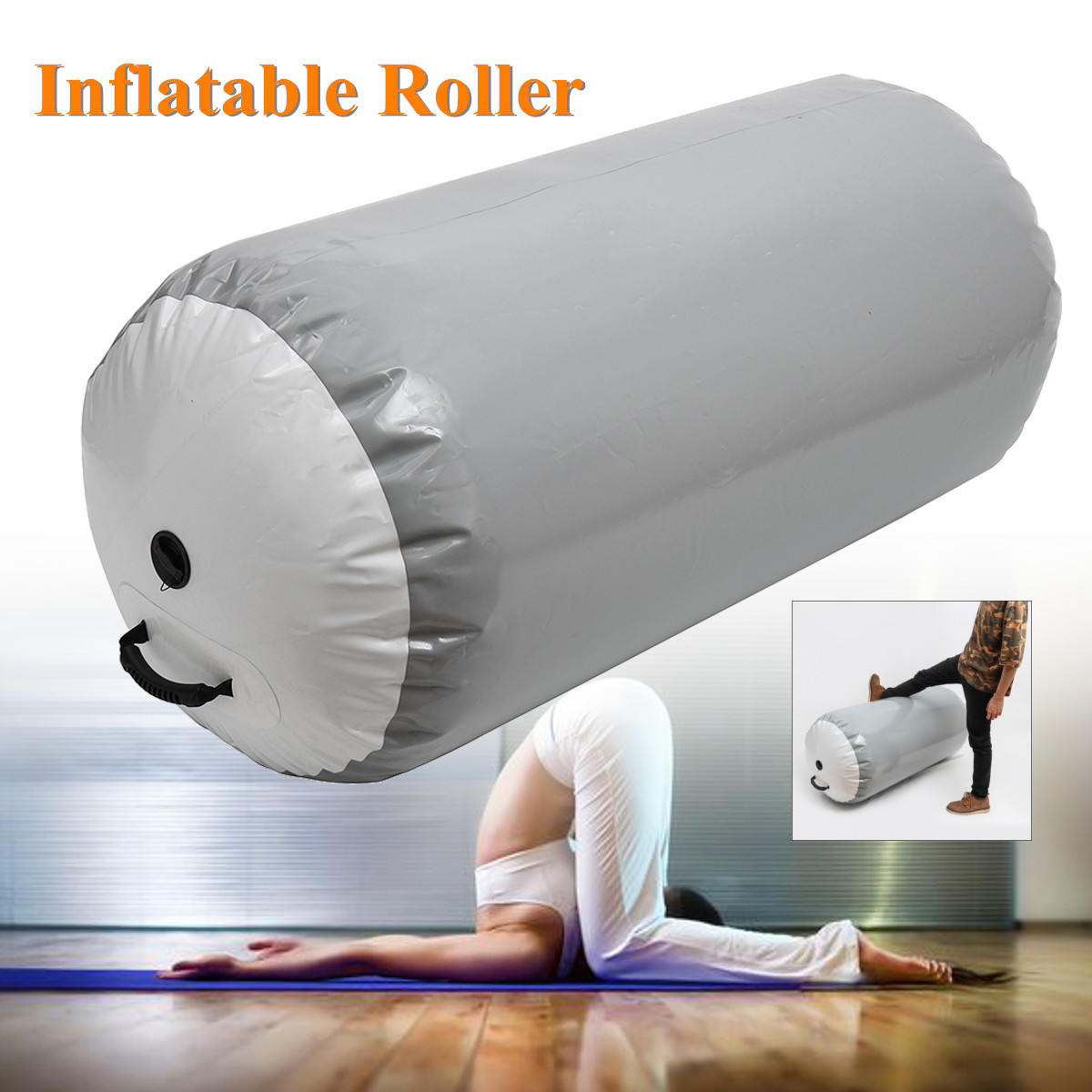 Inflatable Roller Gymnastic Air Rolls Airtrack Tumble Exercise Gym Air Barrel for Training Equipment