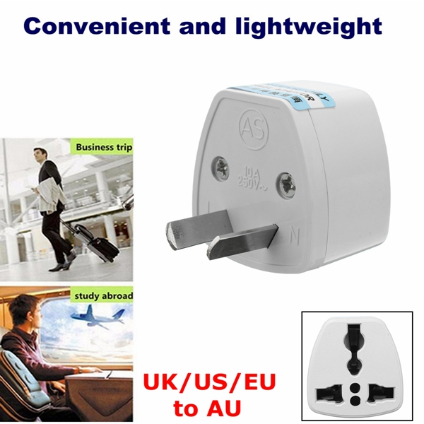2Pin Universal UK/US/EU to AU Travel Power Plug Converter Charger Adapter
