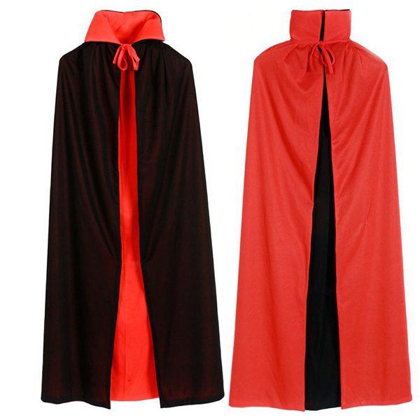Grim Reaper Vampire Double Sided Cloak Halloween Costume Clothing