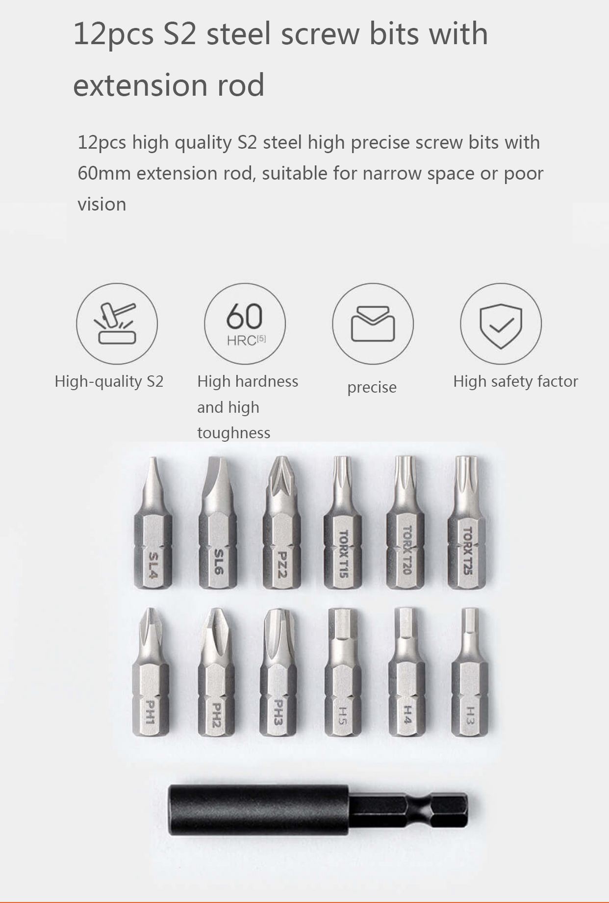 XIAOMI Mijia Cordless Rechargeable Screwdriver 3.6V 2000mAh Li-ion 5N.m Electric Screwdriver With 12Pcs S2 Screw Bits for Home DIY