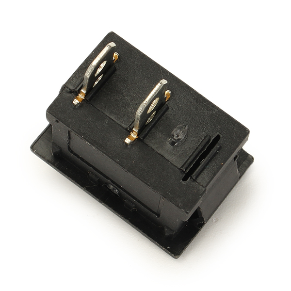 Wendao KCD-101 250V 6A Copper Boat Rocker Switch 2-Pin Plastic Button ON/Off SPST 10pcs