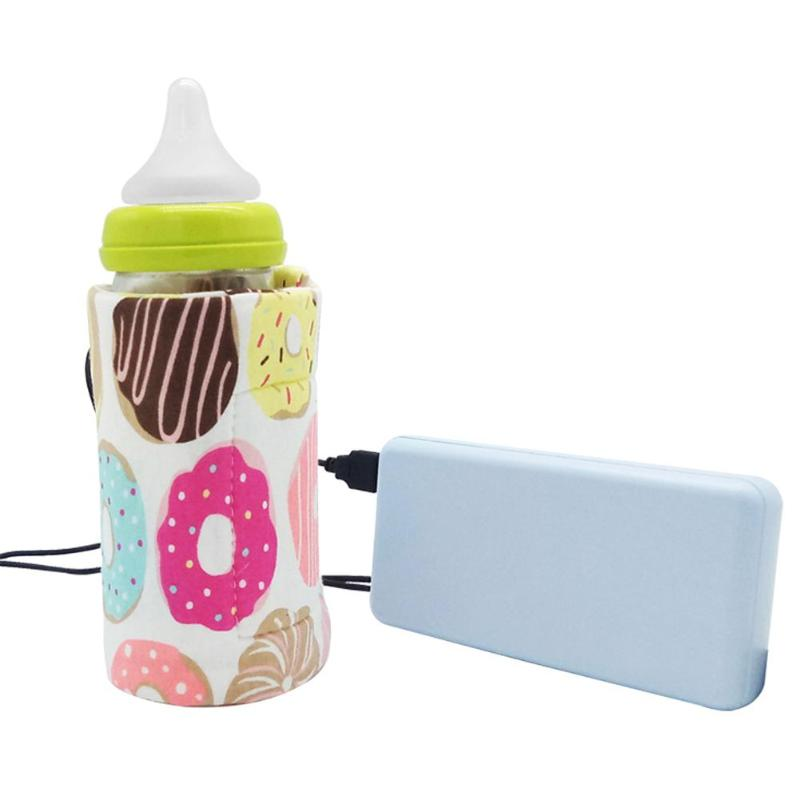 KCASA USB Baby Bottle Bag Warmer Portable Milk Travel Cup Warmer Heater Infant Feeding Bottle Bag Storage Cover Insulation Thermostat Bags
