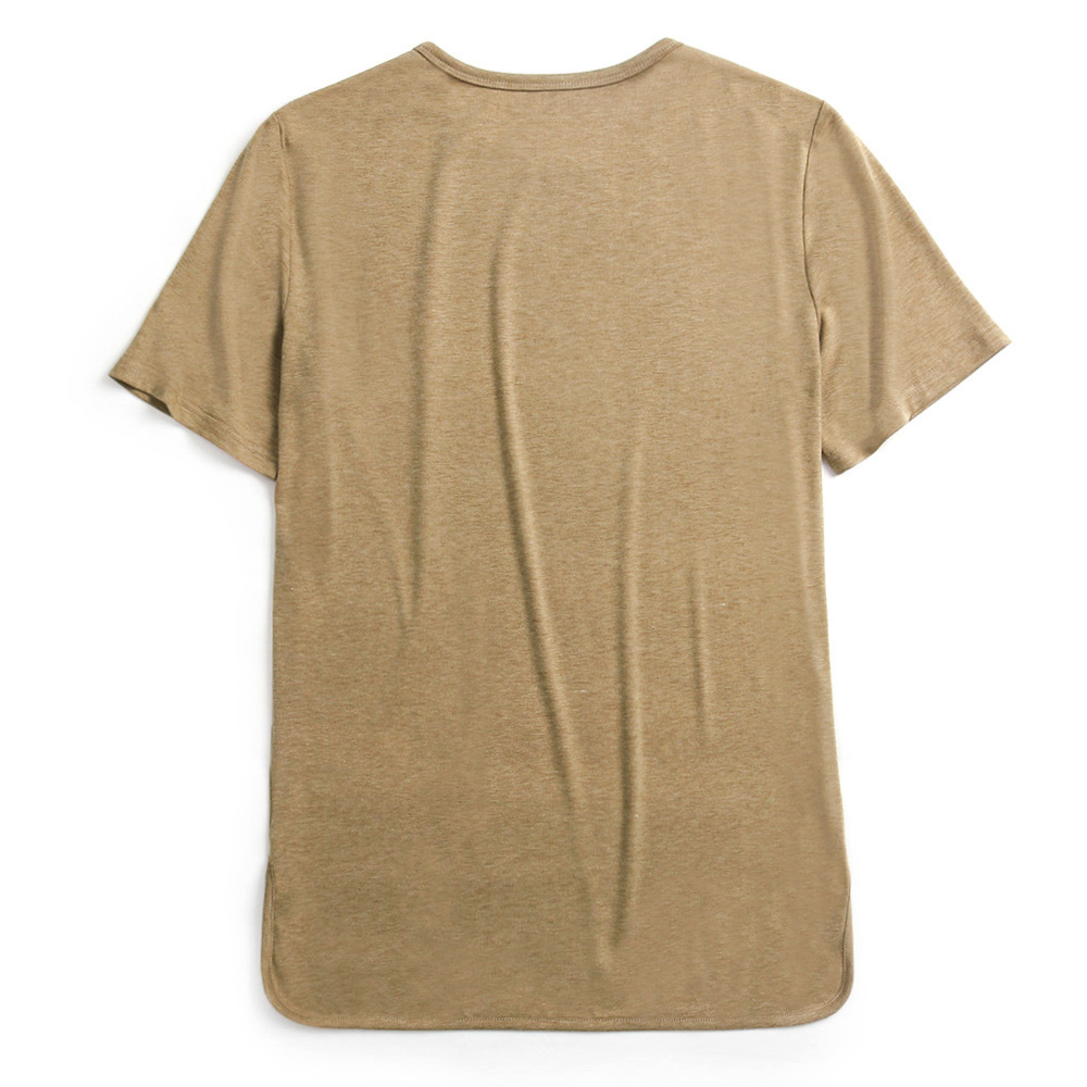 Charmkpr Mens Cotton Linen O-neck Casual T-Shirts