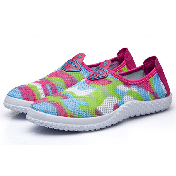Women Breathable Outdoor Mesh Casual Flat Sport Shoes