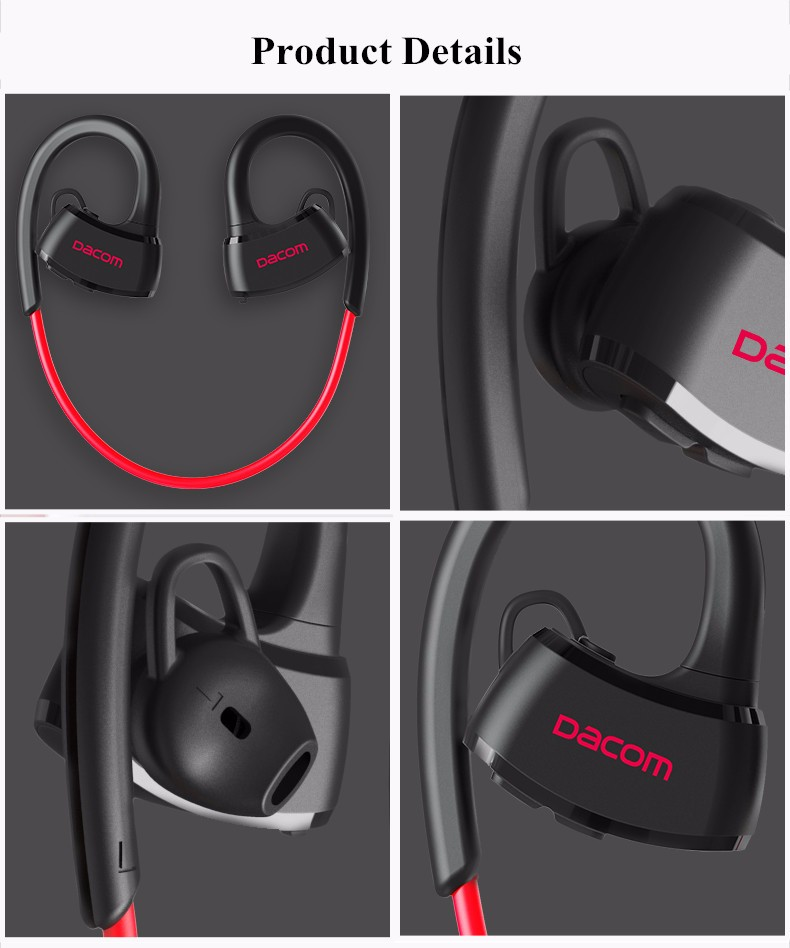 Dacom P10 Sport Swim IPX7 Waterproof Ear-hook Wireless Bluetooth Headphone Earphone