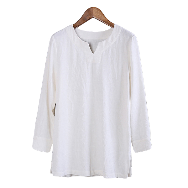 Chinese Style Cotton Linen Loose Casual T-shirts
