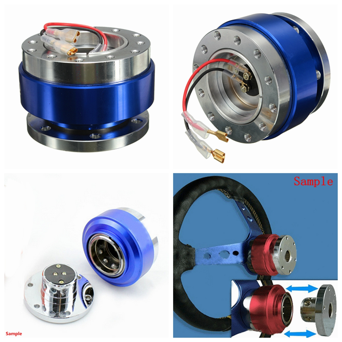 Universal Car Auto Steel Ring Wheel Quick Release Hub Adapter Snap Off Boss Kit
