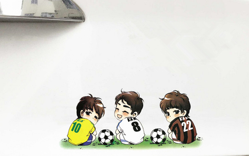 Football Sport Star Cartoon Car Stickers Wall Vinyl Window Body Decals Waterproof Funny Sticker