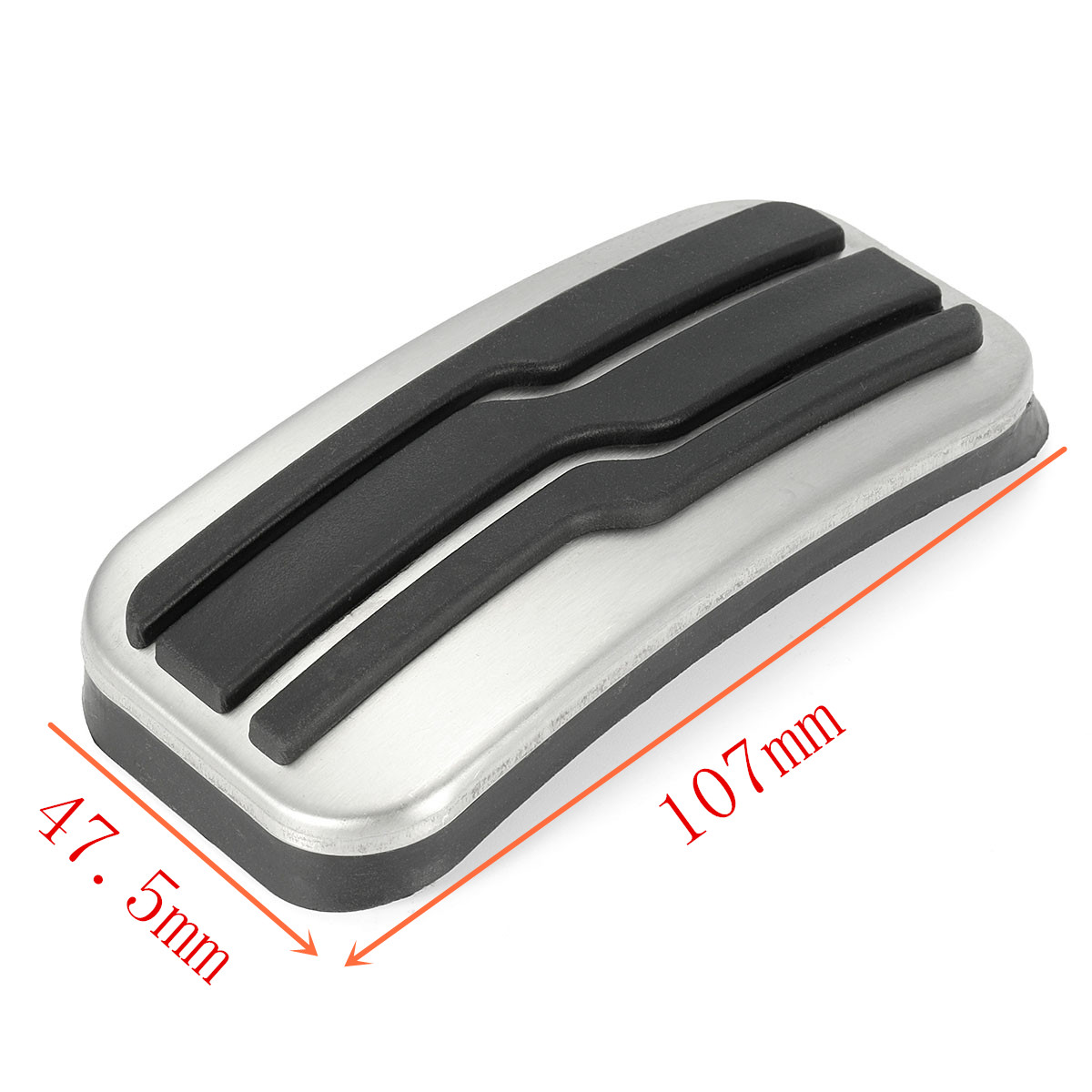 Racing Foot Footrest Fuel Gas & Brake Pedals Plate Cover For Ford Edge 2015