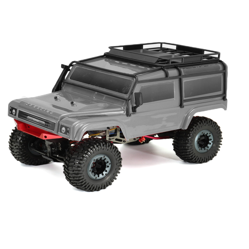 ZD 08422 1/8 2.4G 4CH 4WD Long Distance 200m Rc Car Crawler Truck Titanium Color - Photo: 4