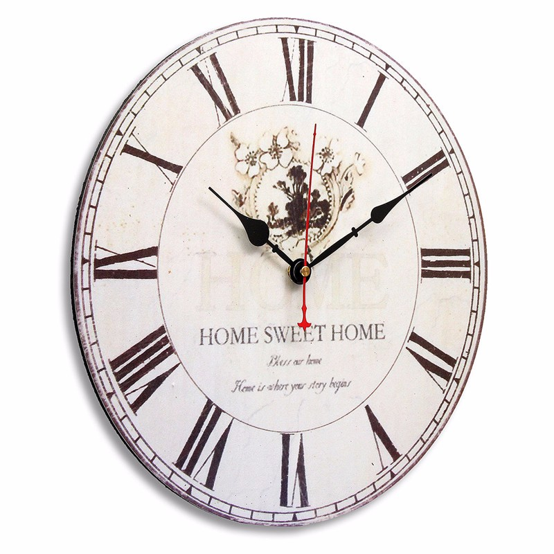 Wooden Digital Wall Clock Vintage Rustic Shabby Chic Retro Kitchen Decor Gifts