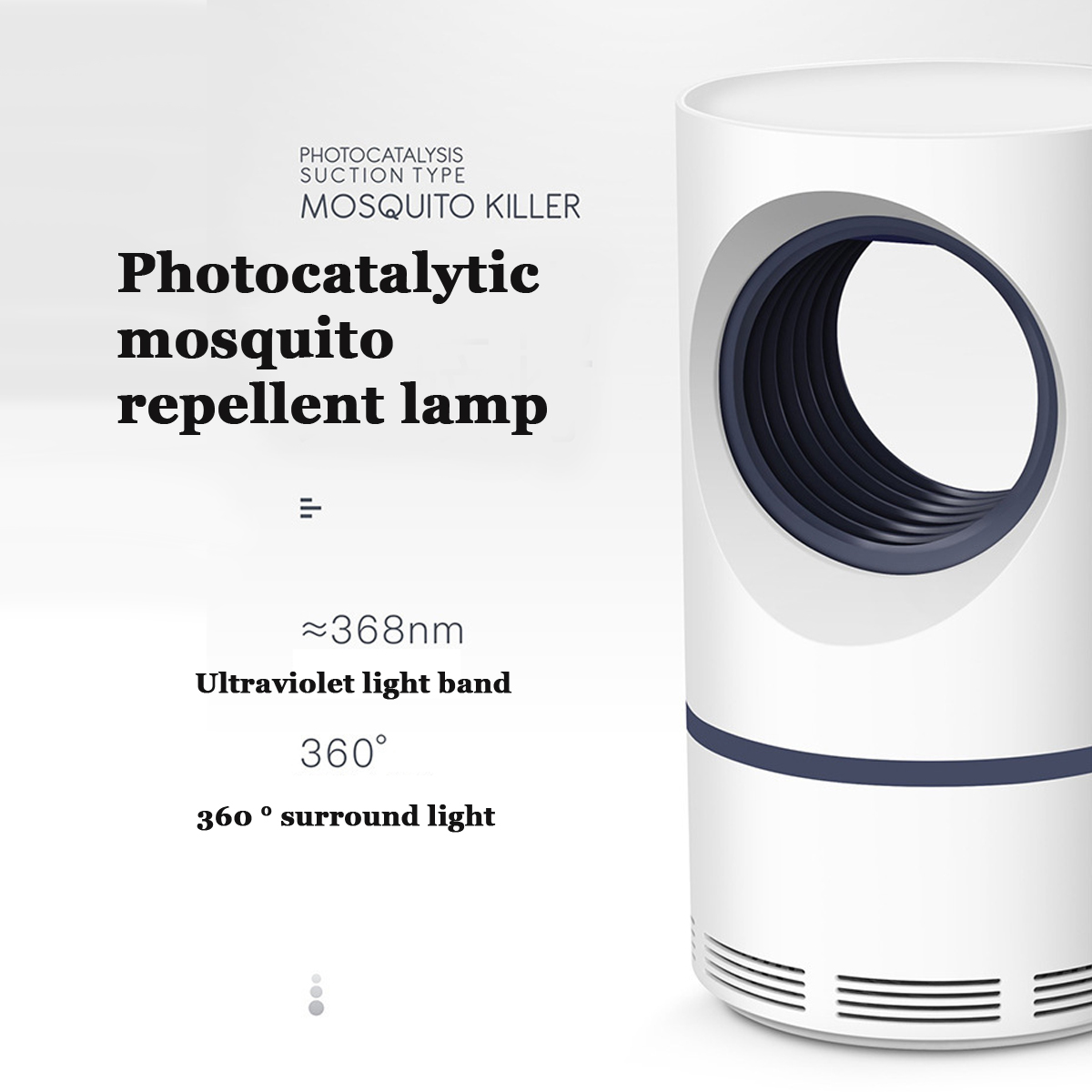 Mosquito Killer Light 5W USB Smart Optically Controlled Insect Killing Lamp