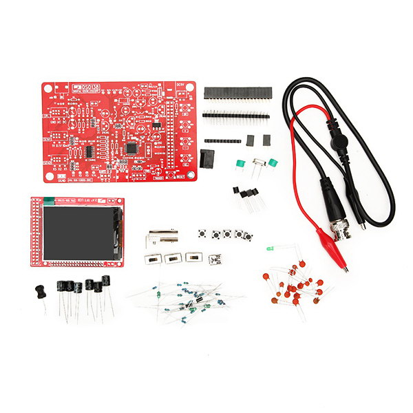 Original JYETech DSO138 DIY Digital Oscilloscope Unassembled Kit SMD Soldered 13803K Version With Housing