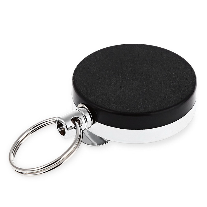 Plastic Tool Belt Retractable Key Recoil Ring Pull Chain Clip ID Card Holder