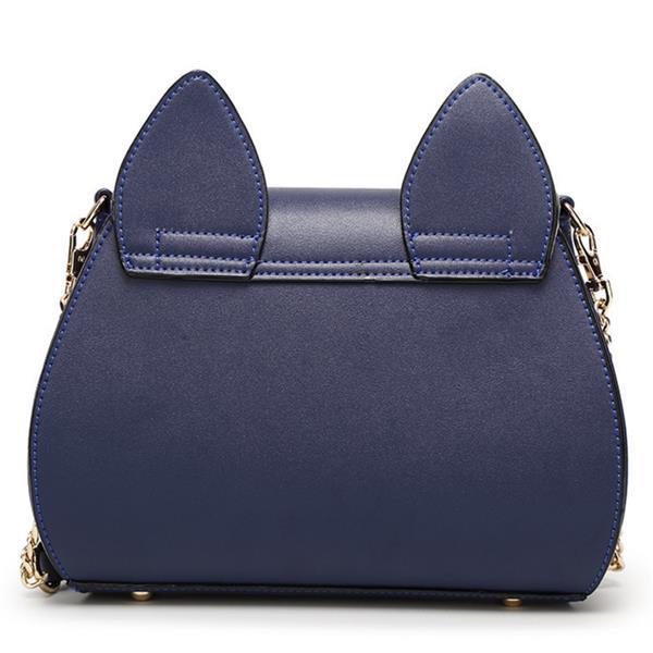 Women Cute Cat Shape Crossbody Bag Butterfly Decorative PU Leather Fashion Shoulder bagWomen Cute Ca