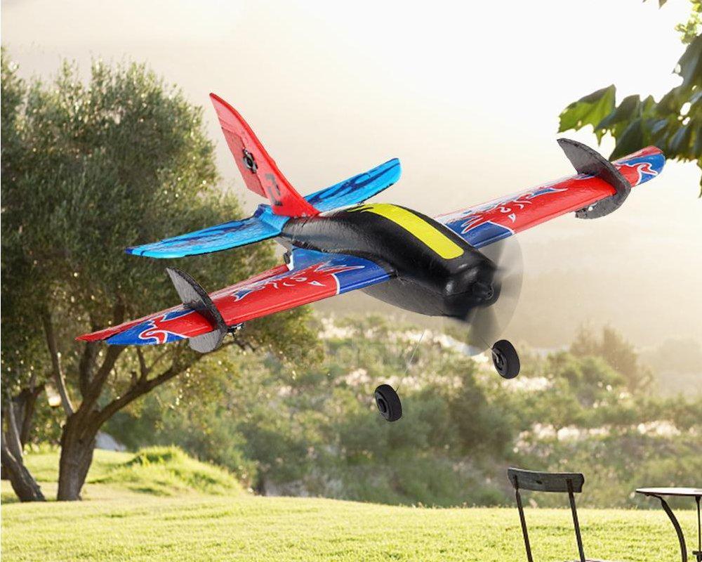 Techboy Mini Bull 2.4G 3CH 345mm Wingspan EPP 360 Degree Rotation RC Airplane Glider RTF