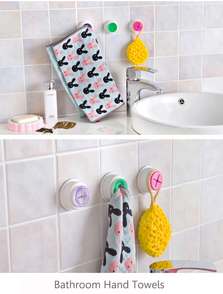 Washcloth Clip Holder Dishclout Storage Rack Kitchen Bathroom Detachable Hand Towel Hanger
