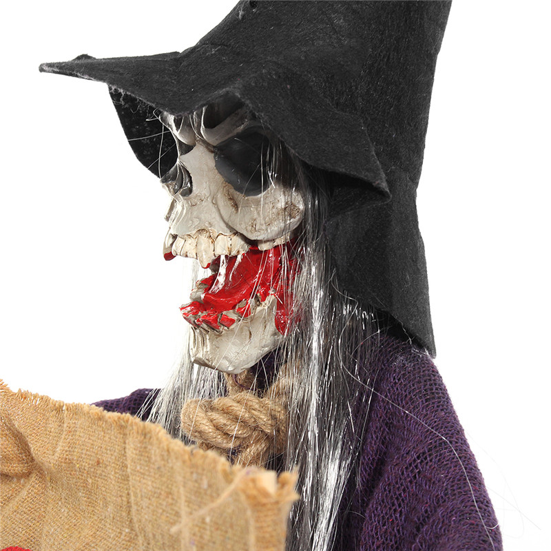 Halloween Party Home Decoration Voice Skeleton Horrid Scare Scene Props Toys