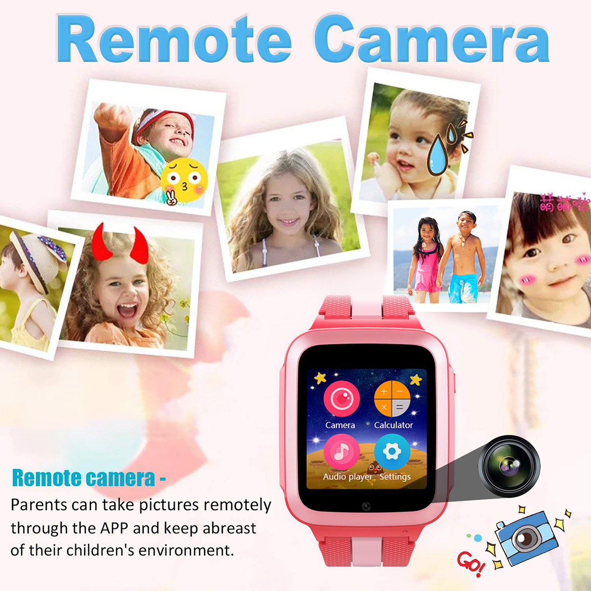 Kids Smart Watche LBS+GPRS Position Bracelet With Camera Mic Support Sim Card Smart Wristband