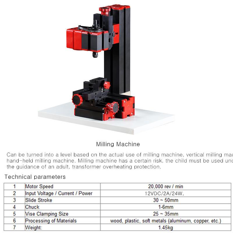 Raitool™ 8 In 1 Mini Multipurpose Machine DIY Woodwork Model Making Tool Lathe Milling MachineKit