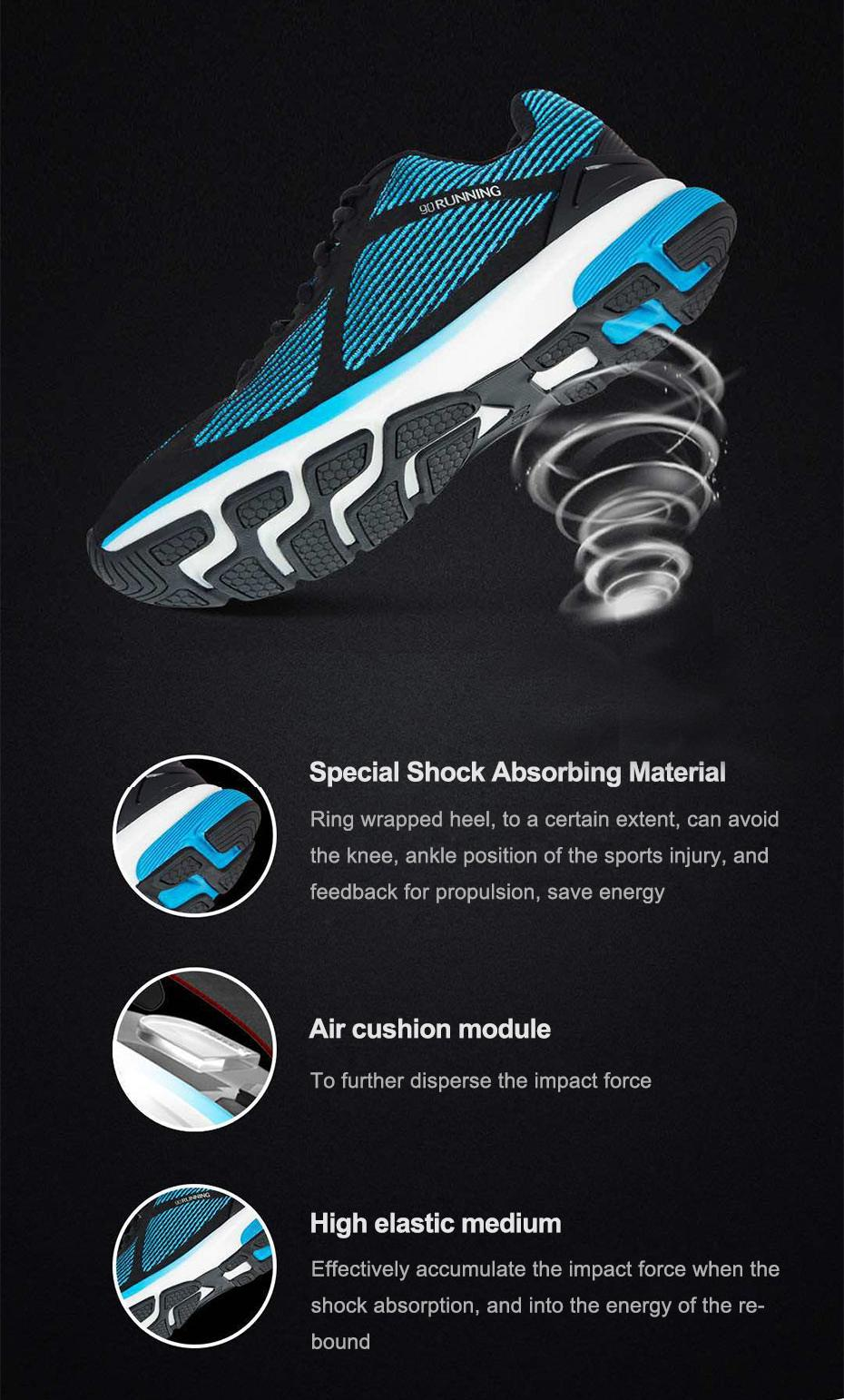 XIAOMI 90 Men Sports Shoes Point Ultra Smart Intel Curie Chipset Breathe Shock Absorption
