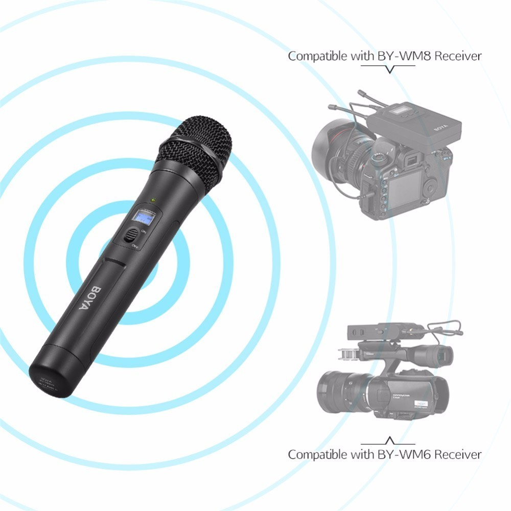 BOYA BY-WHM8 UHF Wireless Handheld Transmitter Cardioid Microphone with 48 Channels