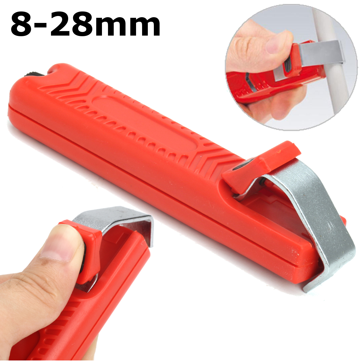 8-28mm Wire Stripper Stripping Cutter Plier Crimping Tool For PVC Rubber Cable