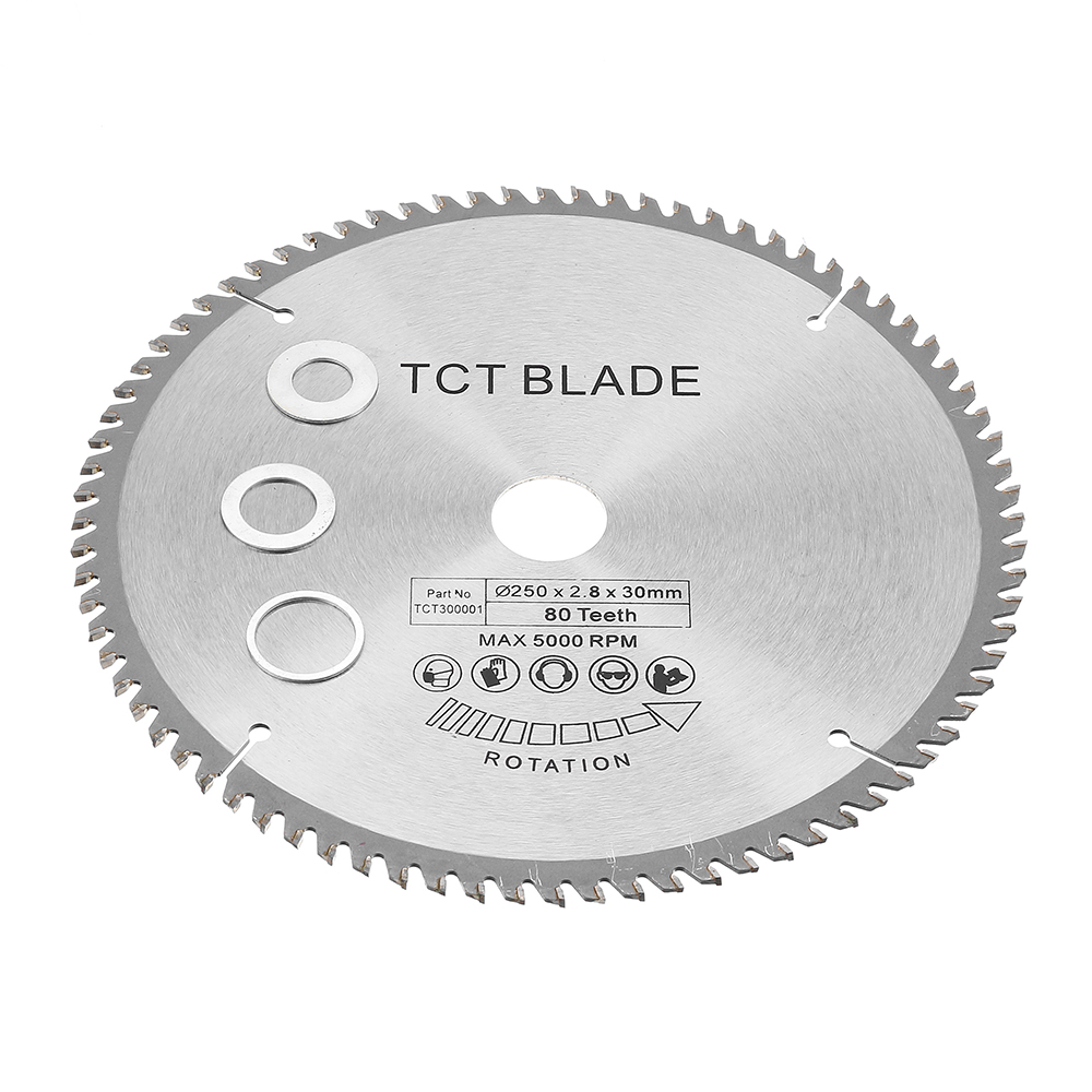 Drillpro 250mm 80T Circular Saw Blade for Cutting Wood Timber Plastic Aluminium for Bosch Makita