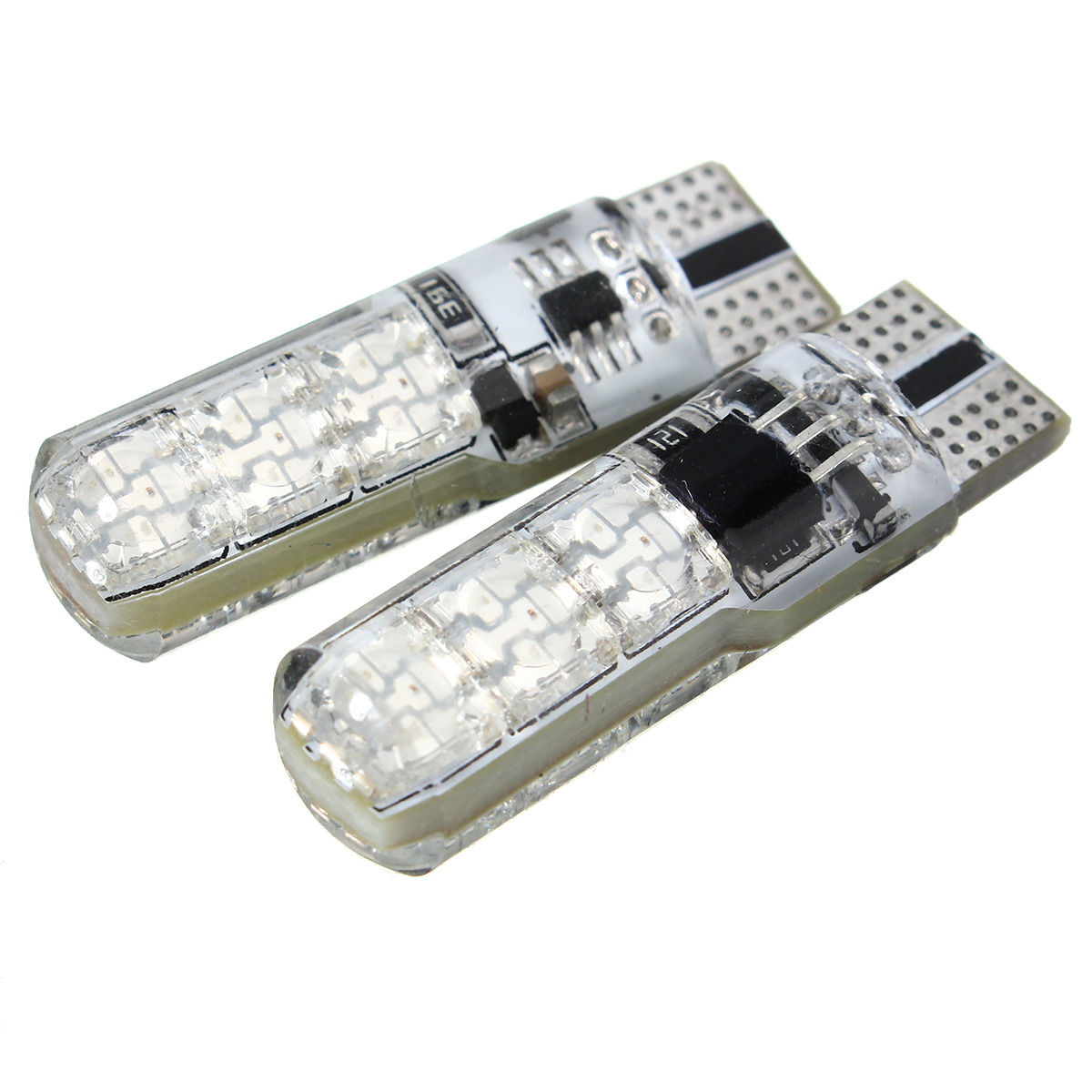 2PCS T10 RGB 6SMD LED Car Side Marker Lights Dome Reading Lights Lamp Bulb with Remote Control