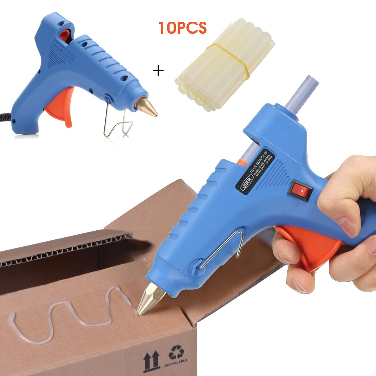 Raitool™ 100V-240V 60W Hot Melt Glue Gun Blue Electric Heating Hot Melt Glue