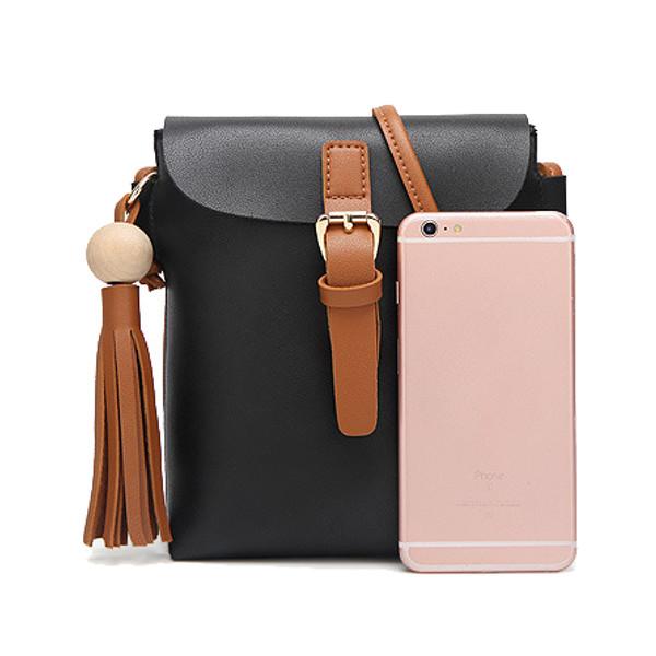 Women Retro Tassel Shoulder Bags Belt Design Crossbody Bags Messenger Bags