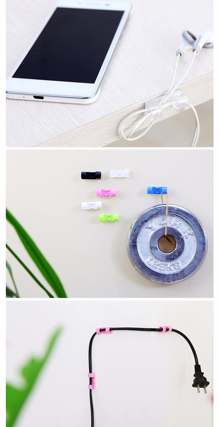20pcs Stick on Table Wall Stick Clip Wire Management Wire Tidy Wire Cable Organizer Clip
