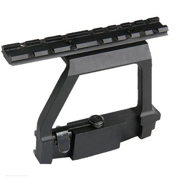 AURKTECH Tactical Army Force AK Side Rail Lock ScopE Mount Base Gun Accessories for 20mm Rail Shaft