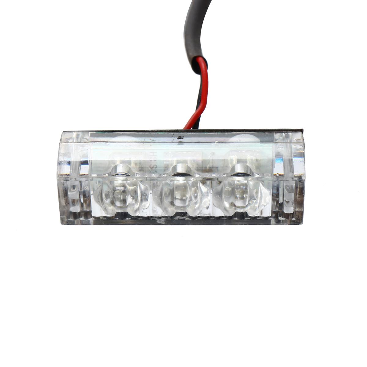 12V LED Red Blue Strobe Flash Lights Emergency Light Police Dash Warning Signal Lamp Car Motorcycle
