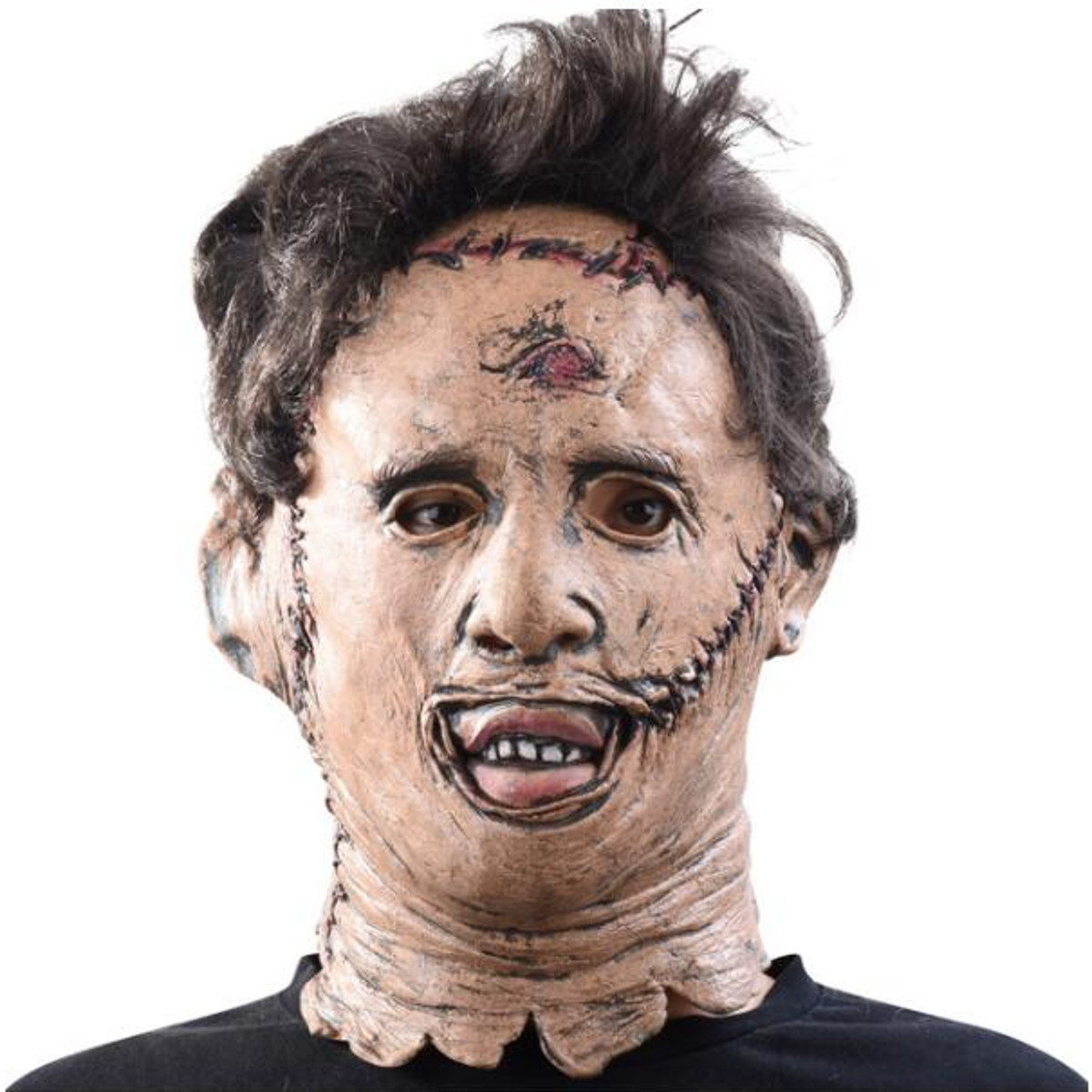 Outdooors Game Halloween Texas Chain Saw Scary Face Mask Hair Costume Adult Horror
