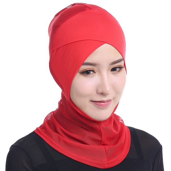 Women Muslim Hijab Hat Full Cover Inner Islamic Turban Head Wear Hat Underscarf Hijab