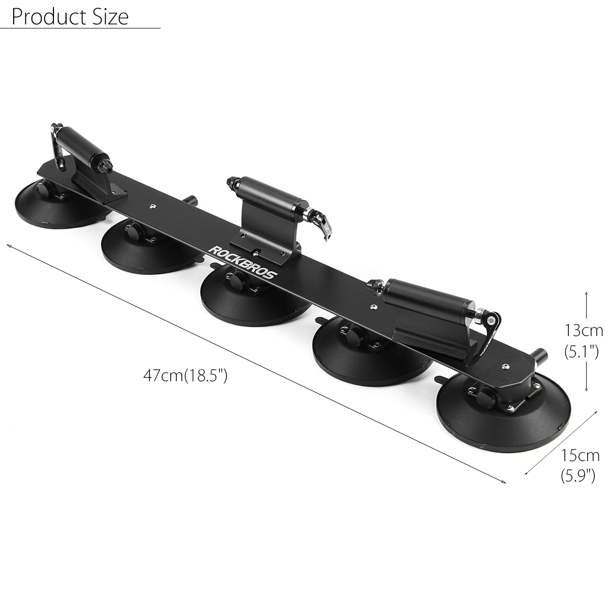 RockBros 3 Bikes Bicycle Carrier Suction Rooftop Rack Quick Installation