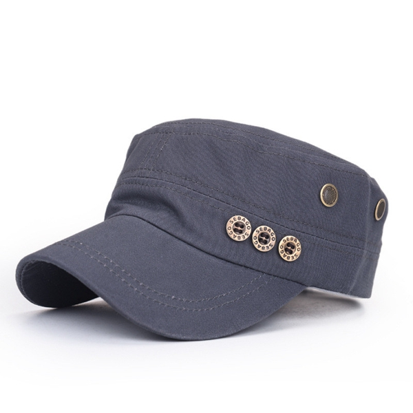 Unisex Men Women Cotton Blend Vintage Military Style Army Baseball Hat Adjustable Sport Sun Flat Cap