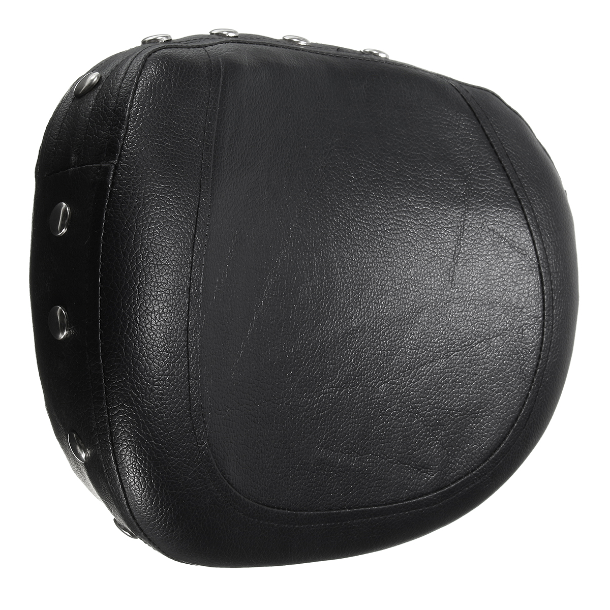 Motorcycle Rear Back Seat Leather Pad Cushion Backrest For Harley Chopper Bobber