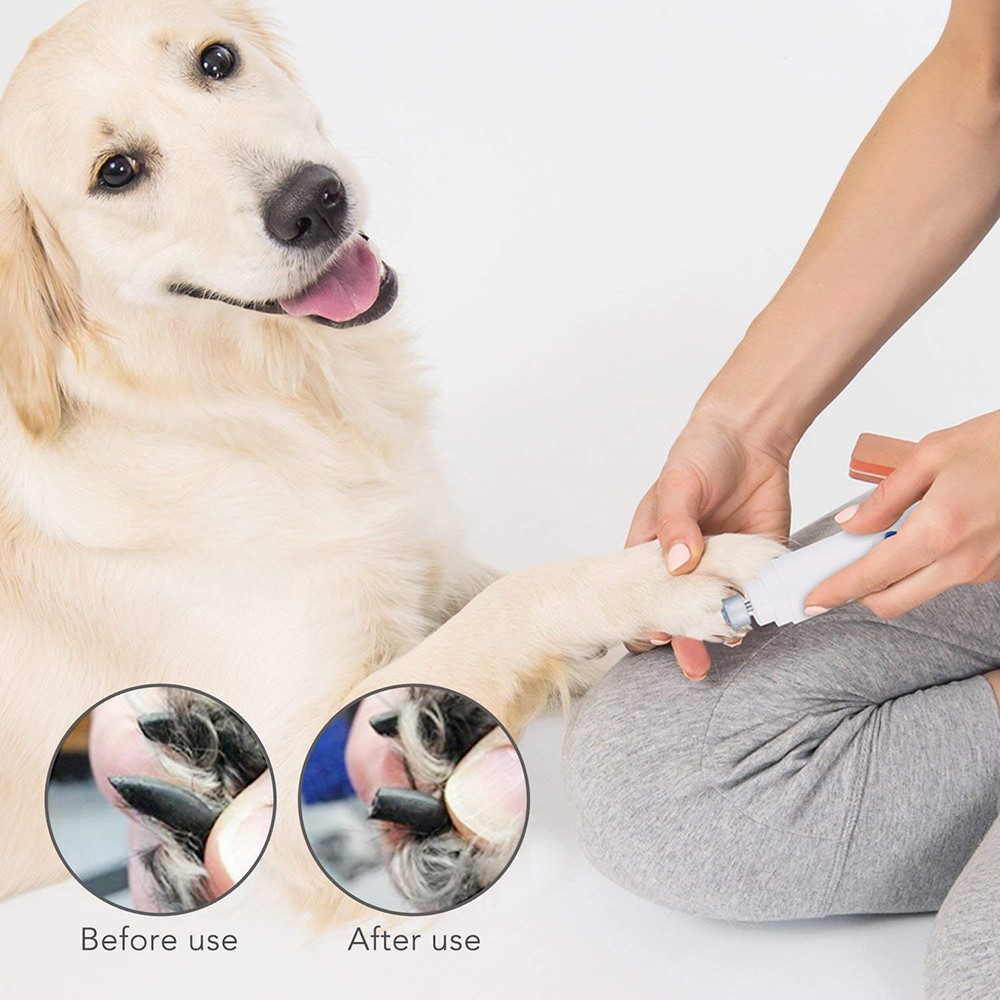 Professional Pet Nail Scissors Dog Cat Nail Trimmer Grooming Tool Grinder Electric Clipper Kit
