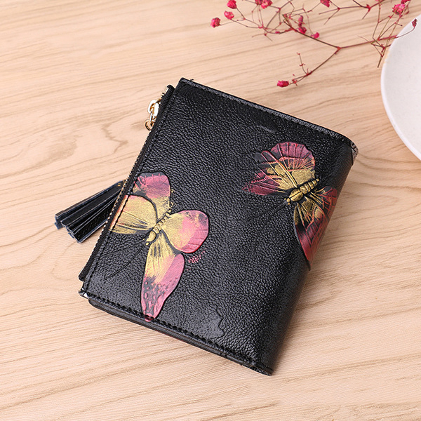 Brenice Women 11 Card Slots Embossed Floral Coin Wallet