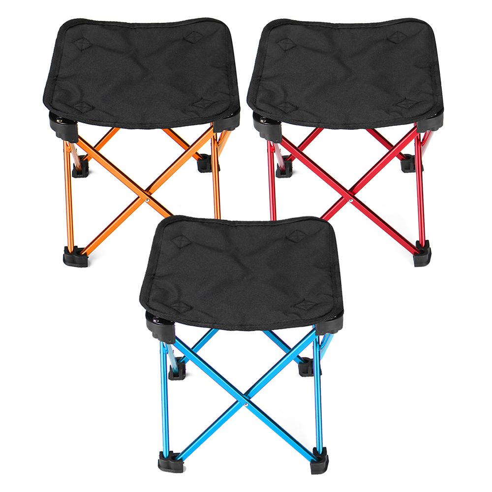 Outdoor Portable Folding Chair Picnic BBQ Aluminium Seat Stool Camping Hiking