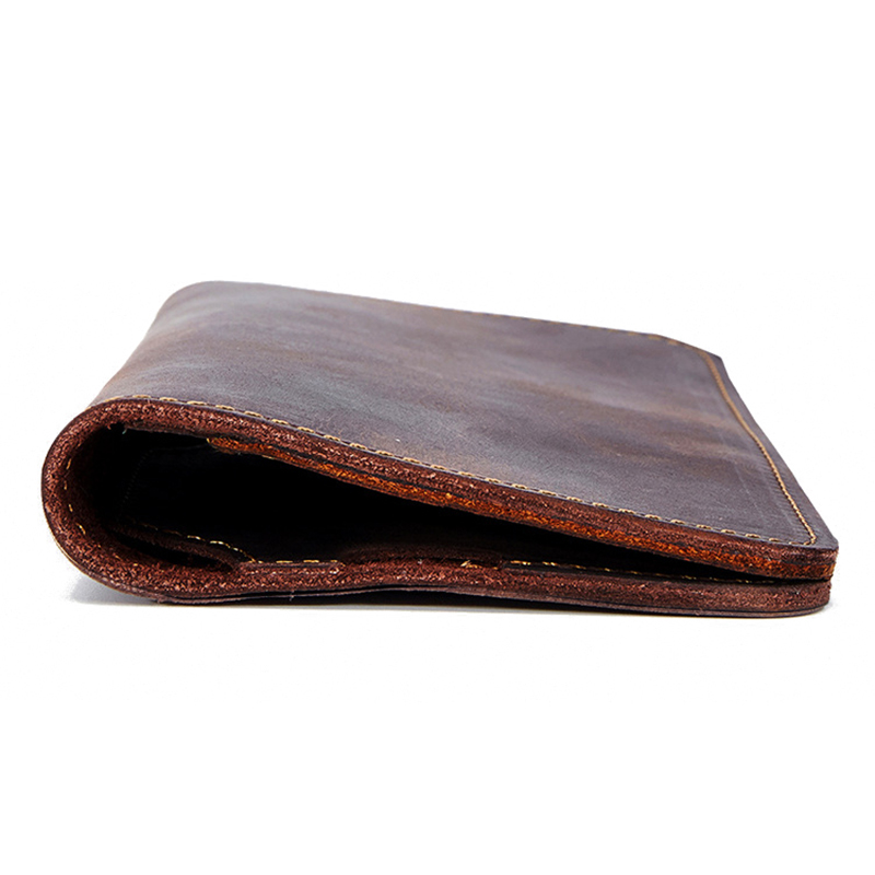 Men Genuine Leather Retro Personalized Wallets 5.5 Inches Ph