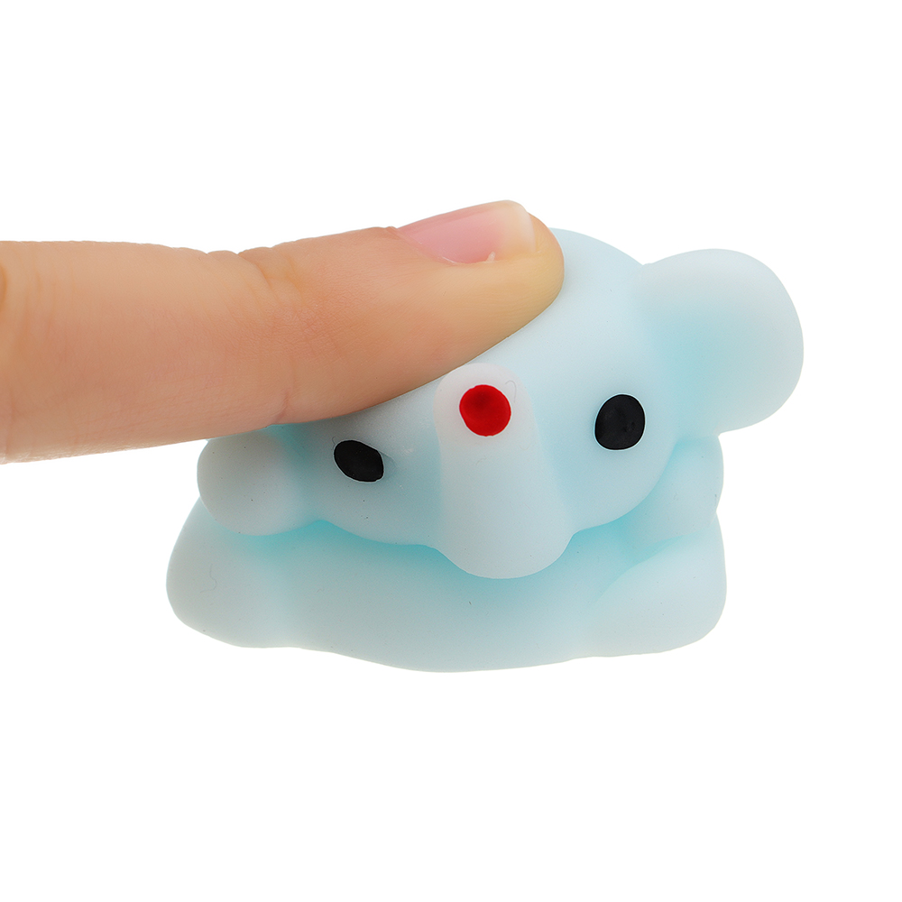 Mochi Squishy Blue Small Nose Squeeze Cute Healing Toy Kawaii Collection Stress Reliever Gift Decor